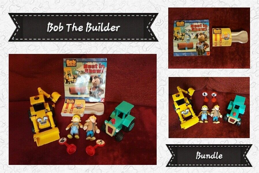 Bob The Builder Bundle: Books, Friction Vehicles, Figures And Accessories