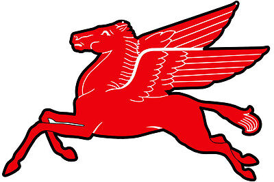 Mobil Pegasus Flying Horse Sign 19X13.25