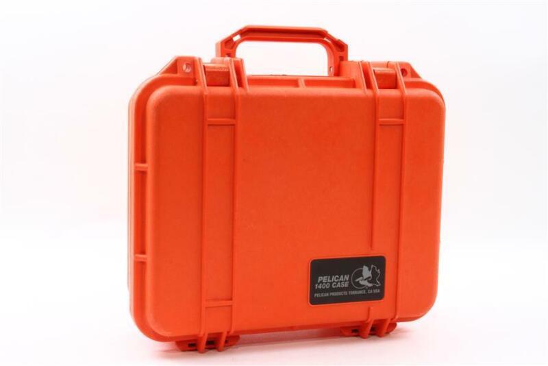 Pelican 1400 Camera Case With Foam - Orange