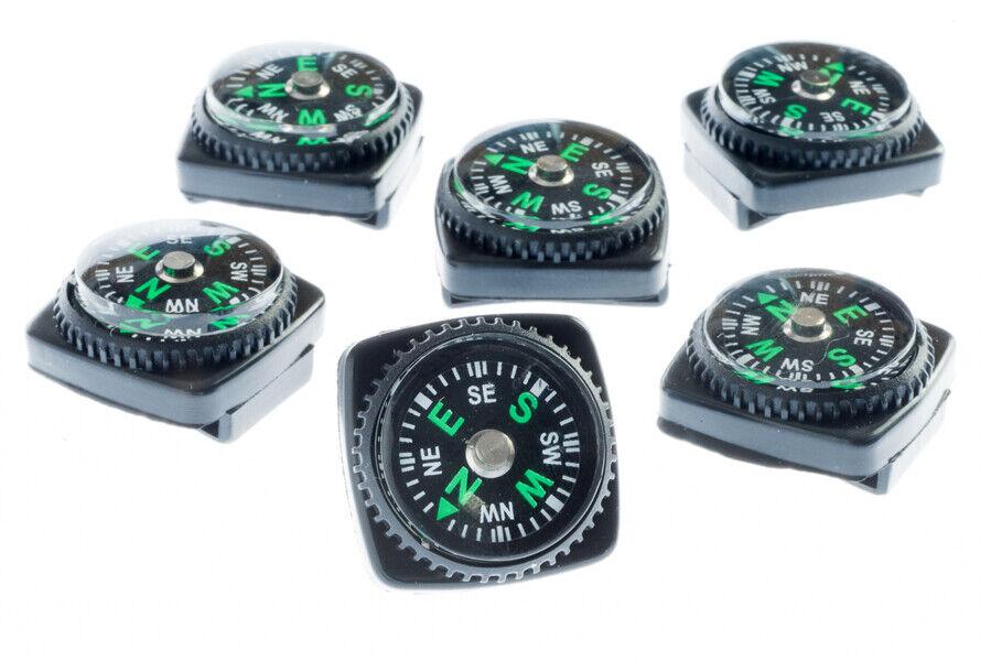 6x Mini Liquid Filled Watchband Compass Slide On Watch Wrist