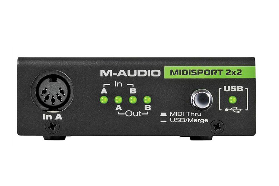 M-Audio Midisport 2x2 Midi Interface, 2-in/2-out Usb Bus-...