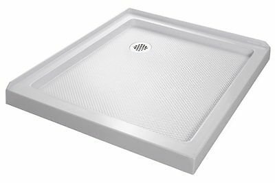 Twin Threshold Shower Base 32x32. Corner drain. White