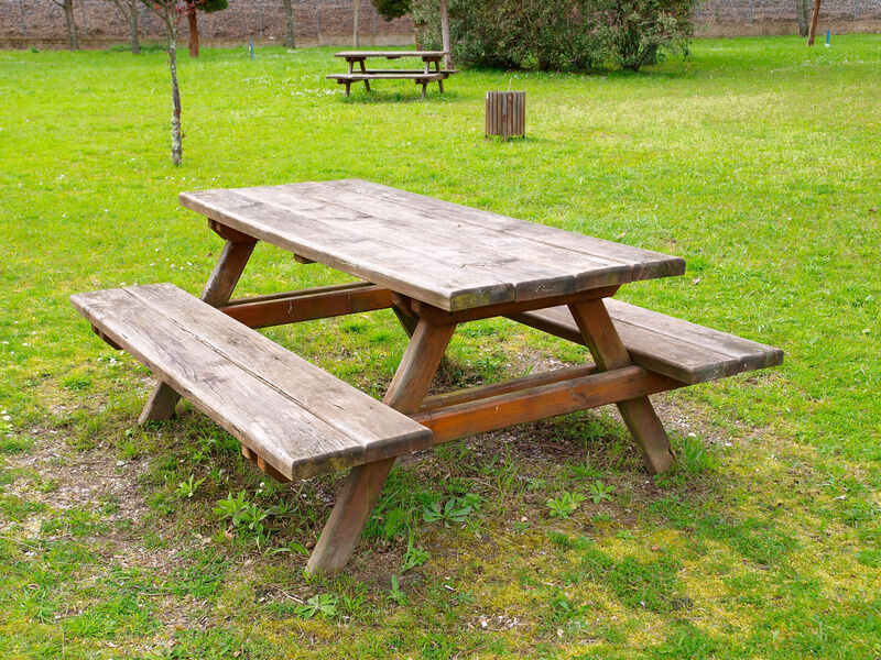 Outdoor Wood Bench With Table | www.pixshark.com - Images ...