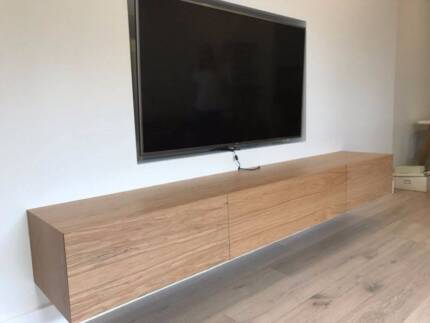 CLAUDE WALL MOUNTED TV UNIT - SOLID AMERICAN OAK HARDWOOD TIMBER |  Entertainment & TV Units | Gumtree Australia Manly Area - Manly Vale |  1146852921