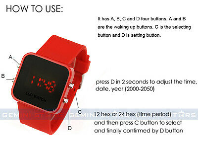 Operation Instruction For Led Watch