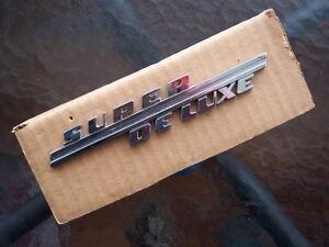 1946 Ford Super Deluxe front fender emblem  ...... flathead V8