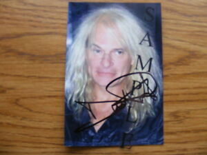 "FS: David Lee Roth ""Autographed"" 4x6 Photo London Ontario image 1"