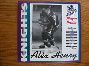 FS: Alex Henry (London Knights 1996-99) Autographed Card London Ontario image 1