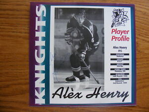 FS: Alex Henry (London Knights 1996-99) Autographed Card