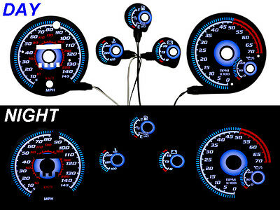 Blue Glow 85-89 Chevy Camaro 145mph Gauge Face Overlay Z28 Iroc Free Ship