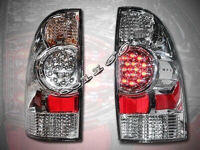 2005-08 Tacoma Chrome Led Tail Lights Rear Brake Lamps