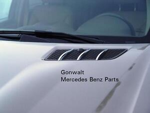 Mercedes benz hood chrome fins gl320 gl350 gl450 gl550 for Mercedes benz gl450 chrome accessories
