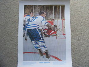"FS: 1972 Dickie Duff / Dave Keon ""Great Moments.."" Print"