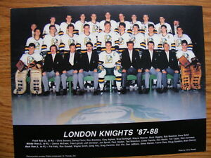 FS: London Knights (OHL) 1987-88 Team Photo London Ontario image 1