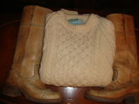 ~*~Men's Vintage Classic Cable Knit Sweater~*~Virgin~Wool
