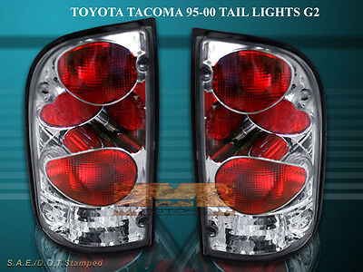 95-00 Toyota Tacoma Tail Lights Chrome 99 98 96 97 Lamp