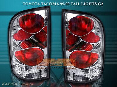 95-00 Toyota Tacoma Tail Lights Chrome 99 98 96 97 Lamp