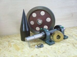 Holzspalter Kegelspalter Elektromotor 2 x  Riemenscheibe 2x17 Kegel 80 mm