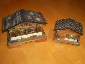 VINTAGE ALPINE CHALET MUSIC BOXES