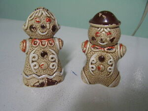 Ginger Bread Salt and Pepper Shakers