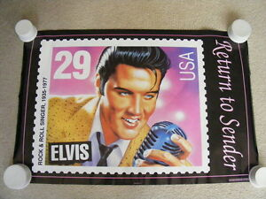 "FS: 1992 Elvis Presley ""Return To Sender"" Poster London Ontario image 1"