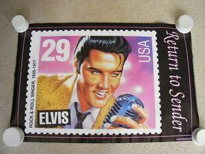 """FS: 1992 Elvis Presley """"Return To Sender"""" Poster"""