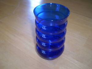 DEPRESSION GLASS TUMBLER HARPO COBALT BY LOUIE GLASS Windsor Region Ontario image 1