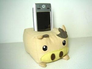 Pig Plush Cell Phone / MP3 Holder Stand