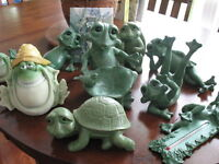 Solid Rock Ornament Frogs etc