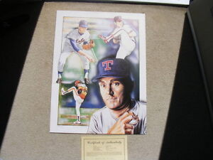 FS: Nolan Ryan Limited (Numbered of 1000) Edition Print London Ontario image 1
