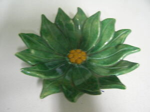 Green Flower Shaped Ceramic dish