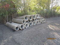 "12"" CEMENT PIPES / TUYAUX EGOUTS DE BETON 12"""