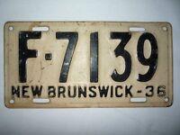 1936 N.B. License Plate