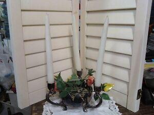 SILVER PLATE CANDLE AND FLOWER HOLDER Belleville Belleville Area image 1