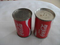 Metal Coca Cola Salt And Pepper Shakers