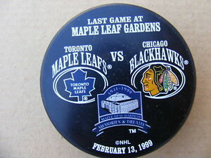 "FS: 1999 Maple Leafs Gardens ""CLOSING NIGHT"" Commemorative Puck London Ontario image 1"