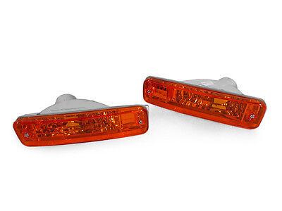 1988-1989 Honda Crx / Cr-x Depo Crystal Amber Front Bumper Signal Lights