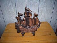 Antique Metal Ship Lamp