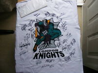 "FS: 1997-98 London Knights (OHL) ""Autographed"" Shirt with COA"