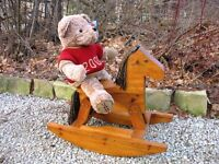 A Hand-Made Rocking Horse With a Primitive Look