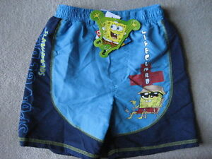 BRAND NEW Spongebob Swim Trunks - Size 5