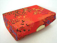 Lipstick Case / Holder - Chinese Pattern Silk - Red