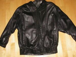 leather coat - manteau de cuir S/P