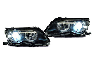 Bi-XENON OEM REPLACEMENT DEPO 02-05 BMW E46 4D/5D ANGEL HALO PROJECTOR HEADLIGHT