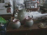 GREEN & PINK POTTERY reduced