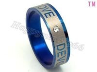 stainless steel blue ring---NEW!!!