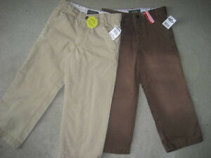 BRAND NEW - 2 PAIRS OLD NAVY TWILL PANTS - SIZE 4T