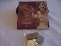 Queen Elizabeth II Keepsake Booklet With 10 Fifty Cent Coins