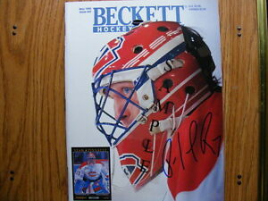 "FS: Patrick Roy ""Autographed"" 1994 Beckett Magazine London Ontario image 1"