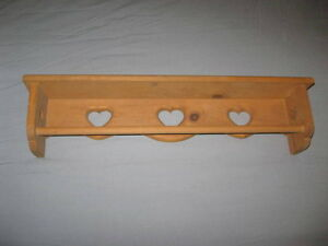 STAINED PINE BLANKET OR TOWEL RACK